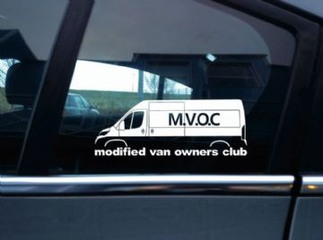 MVOC modified van owners club sticker - for Peugeot Boxer x290 2014- (v1: panel)